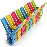 igadgitz Home U6830 Kunststoff Wäscheklammern Groß Quilt Clips Handtuch Klammern für Tägliche Wäsche, Schwere Badetuch, Sonnenbank, Strandtuch, Dicke Teppich etc - 8 Stück