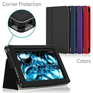 [CORNER PROTECTION] CaseCrown Bold Standby Pro Case (Black) for 2013 All-New Amazon Kindle Fire HD 7 Inch Tablet (NOT for 2012 Kindle Fire HD 7) with Sleep / Wake, Hand Grip & Multi-Angle Viewing Stand
