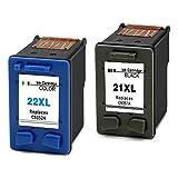 Ink SELLER Kit 2x Ersatz für HP 21XL & HP 22XL kompatible Druckerpatronen für HP von