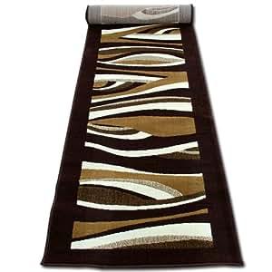 tapis tapis de couloir moderne cm 70 x 240 brun beige cuisine maison. Black Bedroom Furniture Sets. Home Design Ideas