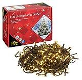 Idena 31123 LED Lichterkette mit 400 LED in warm weiß, mit 8 Stunden Timer Funktion, für Partys, Weihnachten, Deko, Hochzeit, als Stimmungslicht, ca. 47,9 m