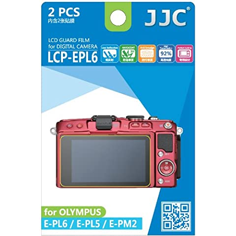 JJC Guard Film - Protector de pantalla antirreflejos y antiarañazos para Olympus Pen E-PL5, E-PL6, E-PM2 (2 unidades)