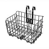 Fahrradkorb, Foxom Faltbar Vorne Fahrradkorb Handlebar Bike Basket, 33×21×20cm, Schwarz
