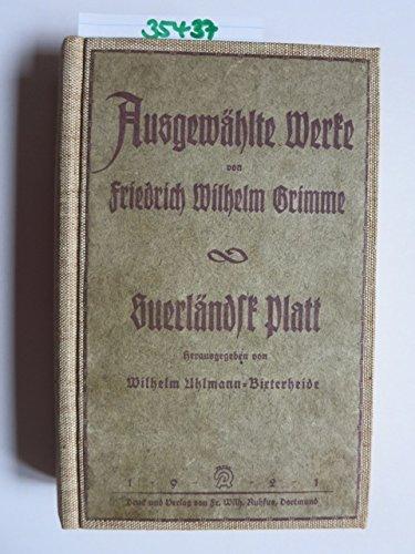 Suerländsk Platt - Ausgewählte Werke (2. Band)