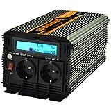 Inversor electrico de 1500w transformador de voltaje de 12v a 220v de onda sinusoidal pura LCD