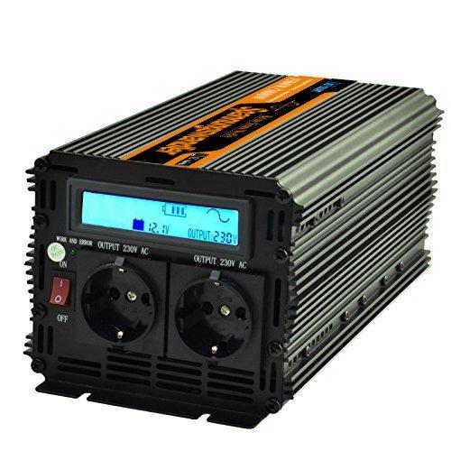 Generic 1500w convertitore di tensione 1500w 12v DC 230v AC onda sinusoidale pura LCD