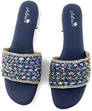 Ladies Indian Elegant, Flat, Soft & Comfortable Sandals for Women for Wedding/Evening/Anniversary/Occasion