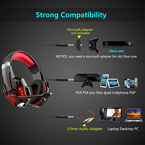 Zoom IMG-3 cuffie gaming per ps4 over
