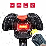 Bike Taillight OUTERDO 3 in 1 Bicycle Wireless Taillight Cycling Alarm Mountain Bike Bell Bike Tail Light USB Charging Waterproof