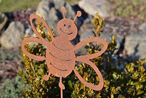 Abeille sur tige rouille patine Décoration Décoration de jardin terrasse fête des mères cadeau jardin potager Jardin Piquet