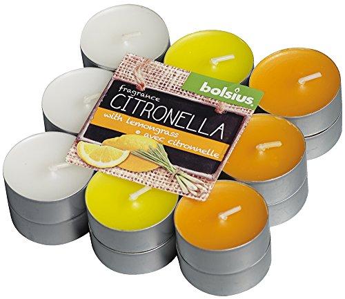 Bolsius Aroma de Velas (18Unidades Pack)-Citronela/limón