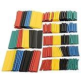 KUNSE Soloop 328Pcs 2:1 Polyolefin Halogen Frei Schrumpfschlauch Sleeven 5 Farbe 8 Größe