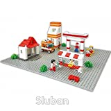 Sluban M38-B0182 B0182 Plateau de Construction 40 x 40 cm Gris Blocks Town Series Basic Building Plate