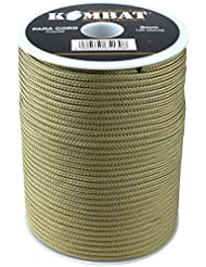Kombat UK – Paracord Bobina, Unisex, Paracord, Coyote, 100 m