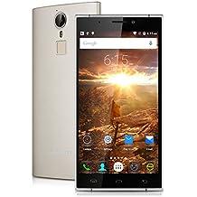 "Doogee F5 - Smartphone libre 4G Lte (Pantalla 5.5"", 16 GB, Cámara 13 Mp, Android 5.1, Octa Core 64bits, Wifi, Bluetooth), Champán"