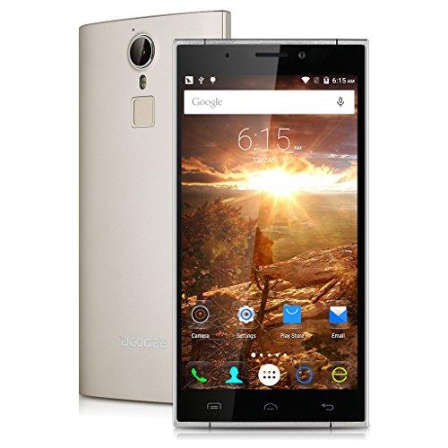 'DOOGEE F5–Smartphone sbloccato 4G LTE, schermo 5.5, 16GB, Fotocamera 16MP, Android 5.1, Octa Core 64bits, Batteria da 3000mAh, Wi-Fi, Bluetooth)