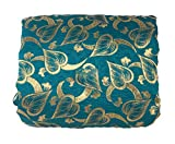 Inhika Women's Cottom Mix Cotton Mix Unstitched Saree Material (5.5 Meter, Green)