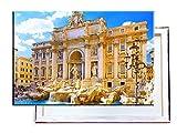Fontana Di Trevi Rom Italien - 60x40 cm - Bilder & Kunstdrucke fertig auf Leinwand aufgespannt und in erstklassiger Druckqualität