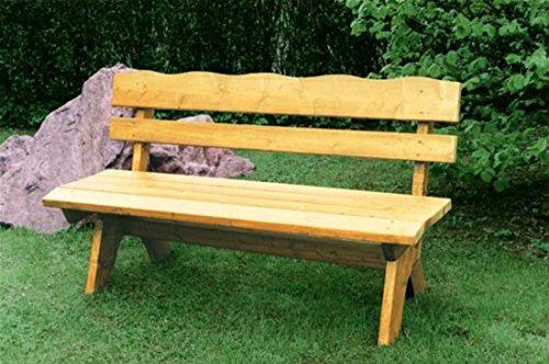 Gartenbank 4-Sitzer 200x60x82cm Freital Holz Kiefer Massiv hellbraun imprägniert