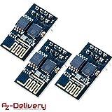 AZDelivery  3 x esp8266 ESP-01S WLAN WiFi Modul für Arduino und Raspberry Pi mit gratis eBook!