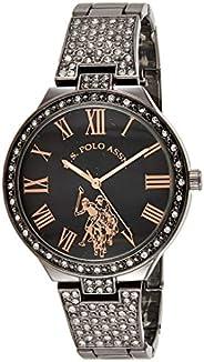 يو. اس. بولو اسان. ساعة نسائية كوارتز من المعدن، اللون: فضية اللون USC40325