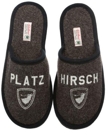 Adelheid Herren Platzhirsch Filzpantoffel Pantoffeln, Braun (rindenbraun / 307), 44/45 EU