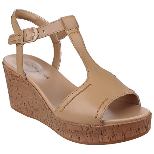 Hush Puppies - Blakely - Sandali a zeppa estive - Donna (40 EU) (Marrone chiaro)