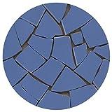 Mosaik Fliesen-Scherben, Bruchmosaik 20-50mm, 1Kg Fernblau, BB02