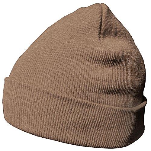 DonDon Wintermütze Mütze warm klassisches Design modern und weich sandbraun