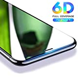 6D iPhone X Tempered Glass, for iPhonex Screen Glass Protector, nzon Apple 10 [6D Tempered Glass] Anti-Scratch, Ultra-Clear Screen Protector Film for iPhone X - Black