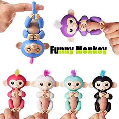 ACALI Interactive Finger-top Monkey Electronic Pet Little Baby monkey Loveable Children Education Toys