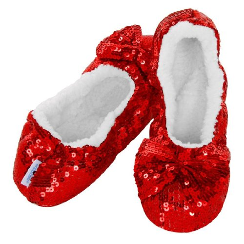 Snoozies , Chaussons pour femme black/blue/fuchsia/gold/green/pink/purple/silver/turquoise Rouge - Rouge rubis