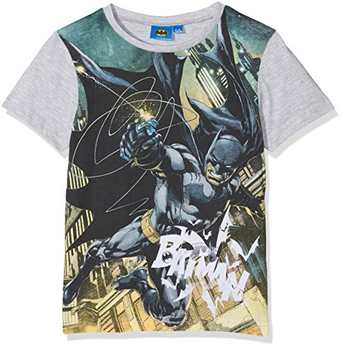 hirt Batman in Action, Grau (Grey Grey Melange), 8 Jahre (Dc Comics Kinder)