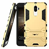 #10: Heartly Lenovo K8 Note Back Cover Graphic Kickstand Hard Dual Rugged Armor Hybrid Bumper Case - Mobile Gold