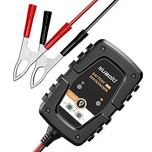 seguro motos: SUAOKI Cargador de Batería de Coche/Motocicleta 1Amp 6/12V, Cargador de batería ...
