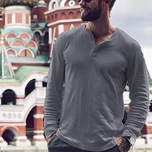 serliy Herren Langärmelig Patchwork Rundhals Shaped Oberteile Slim Fit Einfarbig Casual Sweatshirt Langarm Figurbetont Hemd T-Shirt Slim