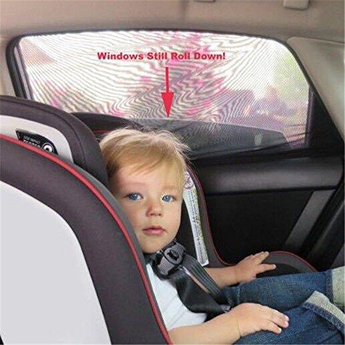 onemoret 2/Pair Sun Shades Schwarz Mesh Baby Gesundheit Hohe Qualität DIY Auto Fenster Socken Sox passt für die meisten von Cars - Auto Fenster Shade Seite