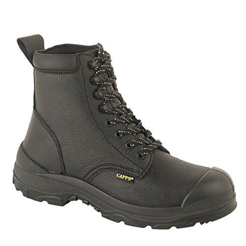 Delta Plus LH323SMWR Bottes de travail Sécurité Noir Hommes chaussures en cuir Black