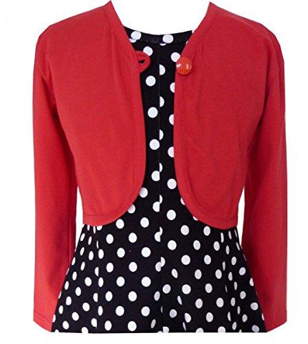 Trocadero Sommer Cardigan Mädchen in Rot handgemacht - NUR JACKE!!! Gr.128