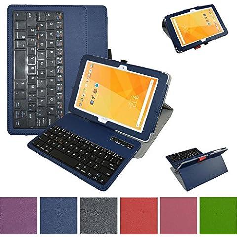 Acer Iconia One 10 B3-A20 Bluetooth teclado Funda,Mama Mouth DETACHABLE Bluetooth teclado teclado (teclado QWERTY formato inglés) PU Cuero Con Soporte Funda Caso Case para 10.1