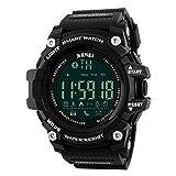 Skmei Reloj Hombre Inteligente para Android IOS Podómetro Bluetooth Pulsera Inteligente Resistente Al Agua 5ATM Deportivo Fitness Tracker Barato