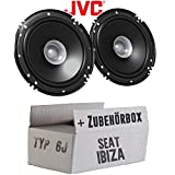 Seat Ibiza 6J - Lautsprecher Boxen JVC CS-J610X - 16cm Auto Einbauzubehör 300Watt Koaxe KFZ PKW Paar - Einbauset