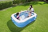 Bestway Family Pool Blue Rectangular, 201x150x51 cm - 4