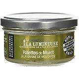 La Lumineuse Rillettes de Mulet à  la Graine de Moutarde 120 g - Lot de 8