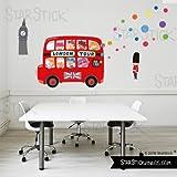StarStick - London Bus - Vinilos infantiles bebé 200x150 cm- T3 - Grande
