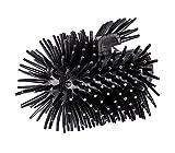 Wenko Ersatzbürstenkopf mit Randreiniger für WC-Garnituren Silikon, schwarz, 7,5 x 7,5 x 9,3 cm