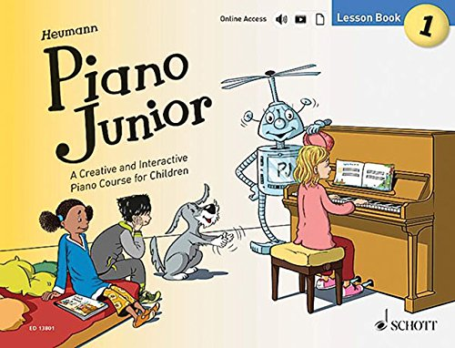 Piano Junior: A Creative and Interactive Piano Course for Children: Lesson Book 1