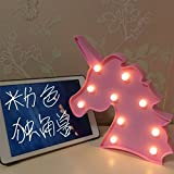JYSPORT LED Einhorn Nachtlichter Kinderzimmer Stimmungslicht Unicorn Lampen Nacht Licht Baby  Children's Room Dekorationen (pink) -