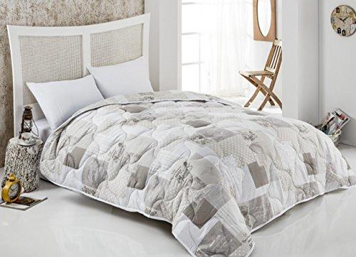 Tagesdecke Bettüberwurf und Sofaüberwurf von JEMIDI gesteppt 220 x 240cm Überwurf Sofa Couch Decke (Maison de Paris)