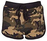 NOROZE Fille Camouflage BRKLYN Rose Imprimé Hot Pants Shorts Pantalon Court (9-10 Ans, Camo- Kaki)